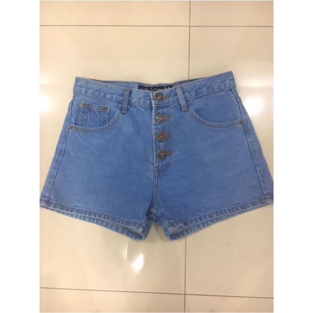 Reprice ! Baby Blue - High Waisted Hotpants