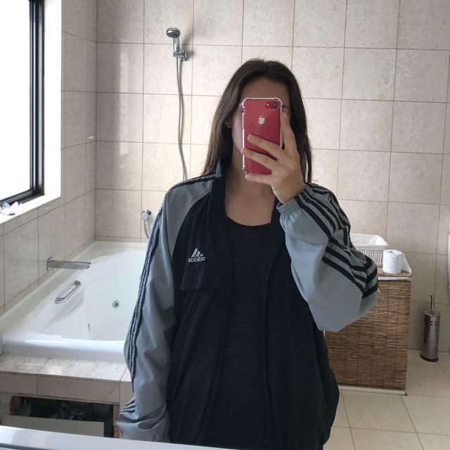 Black & Grey Adidas Jacket