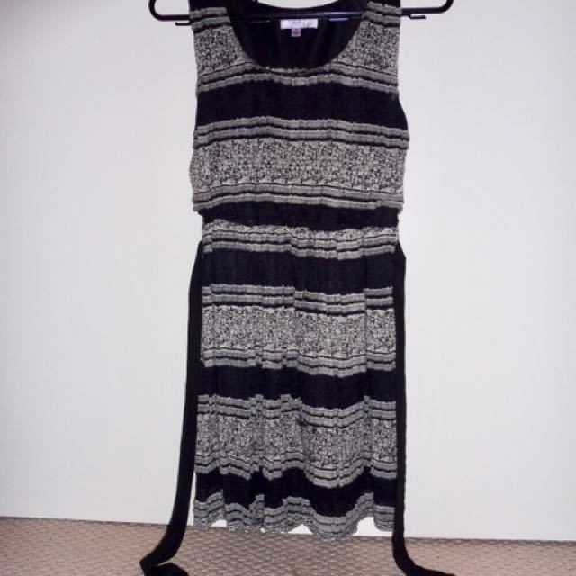 Black & Tan Dress