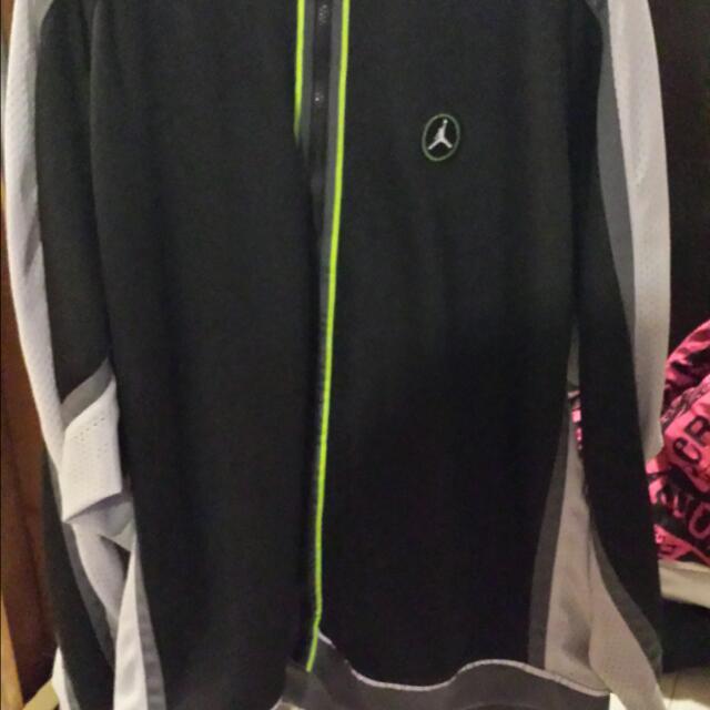 Blk & Gray Jordan Brand Jacket