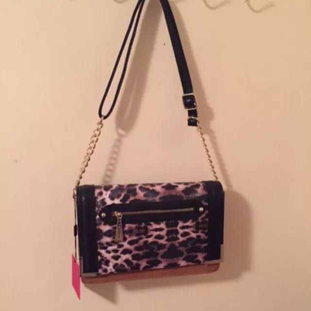 Brand New - Wayne Cooper Animal Print Tan Bag