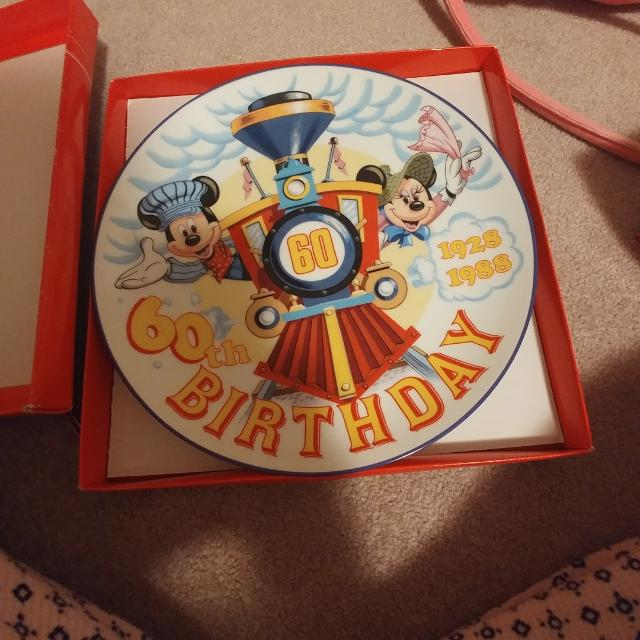 Brand New Disney 60th Birthday Plate
