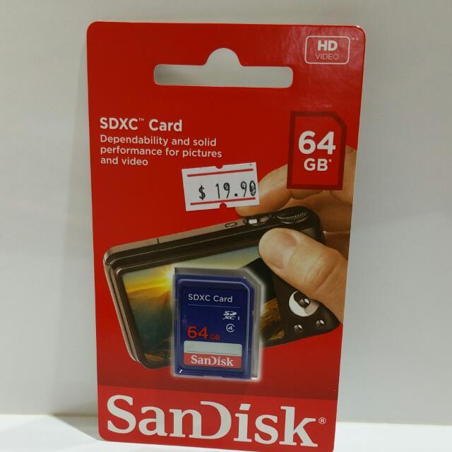 Brand New  SDXC CARD  64GB
