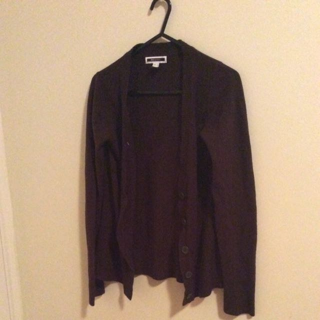 Brown Buttoned Sweater Cardigan