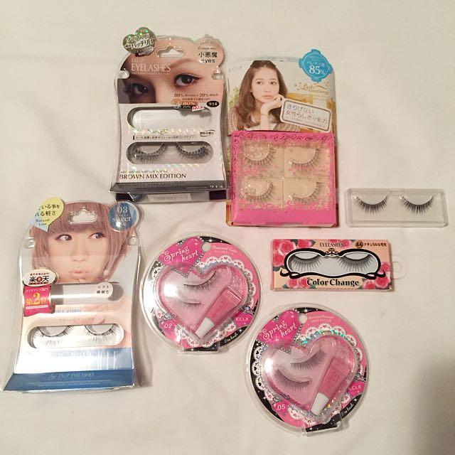 Bunch Of Japanese Fake Eyelashes