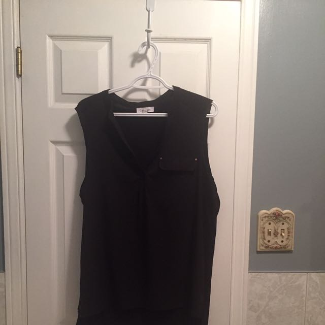 Calvin Klein Sleeveless Black Shirt