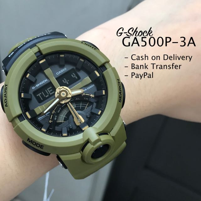 Casio G-Shock GA500P-3A Urban Sports Anadigi Green Watch