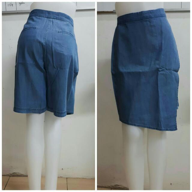 Celana Rok Jeans Pendek