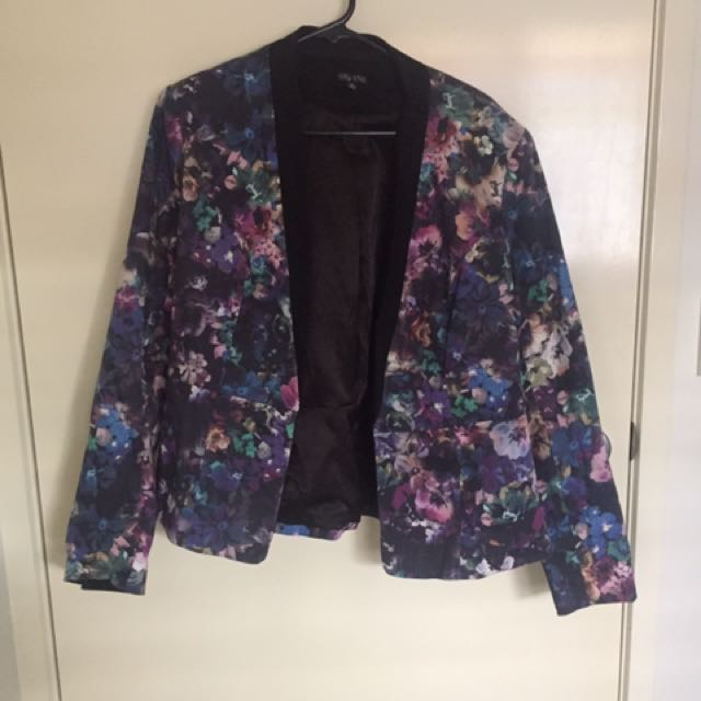 City Chic Plus Size Floral Blazer/jacket - Small