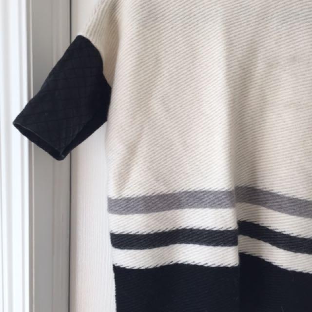 Club Monaco Leather Detail Wool Sweater