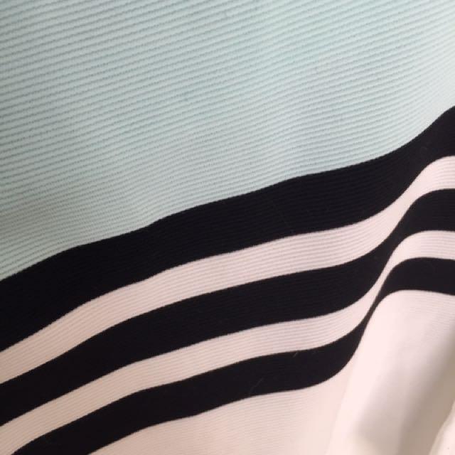 Club Monaco Teal Striped Top