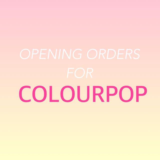 Colourpop Preorder!