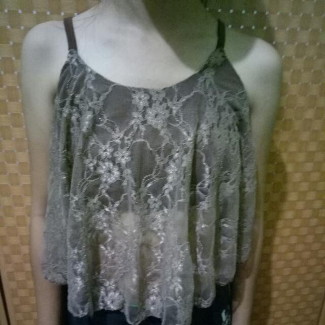 Crop top Lace Cover Top