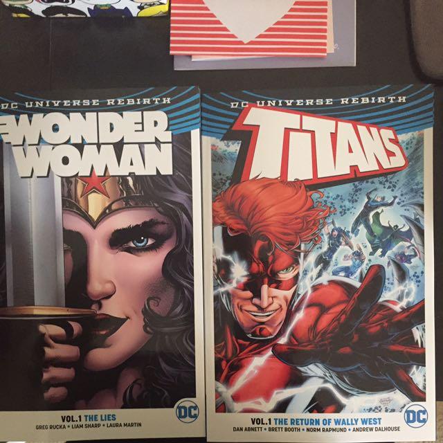 Dc Universe Rebirth Vol 1 Wonderwoman And Vol 1 Titans