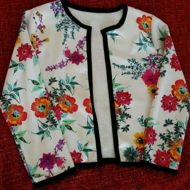 *Sale* Floral Open Front Casual Blazer