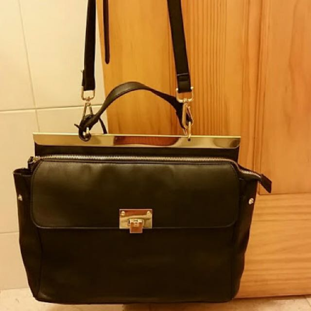 Forever 21 Black/Gold Satchel