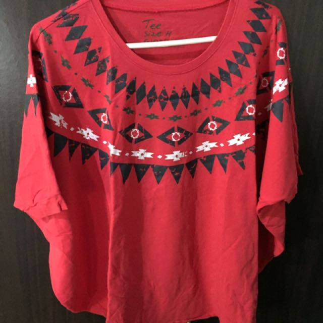 Giordano stretch poncho-style blouse