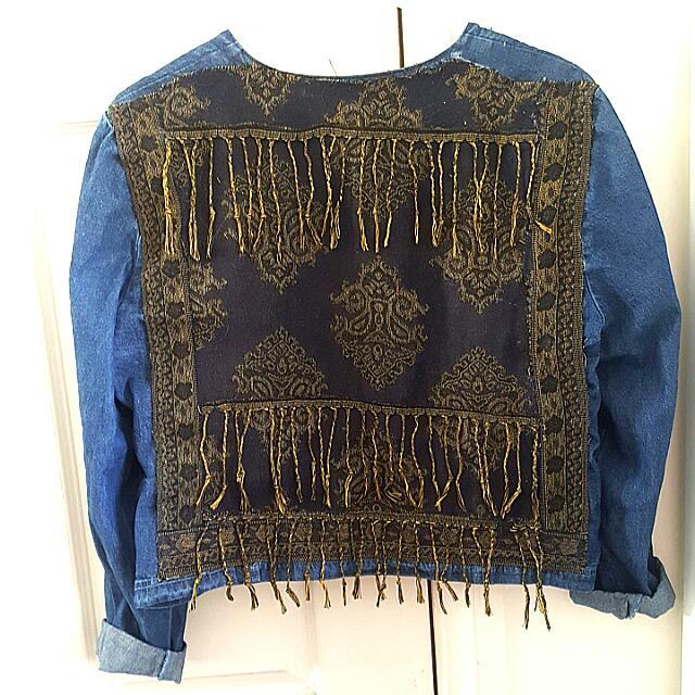 Handmade Embroided Denim Jacket