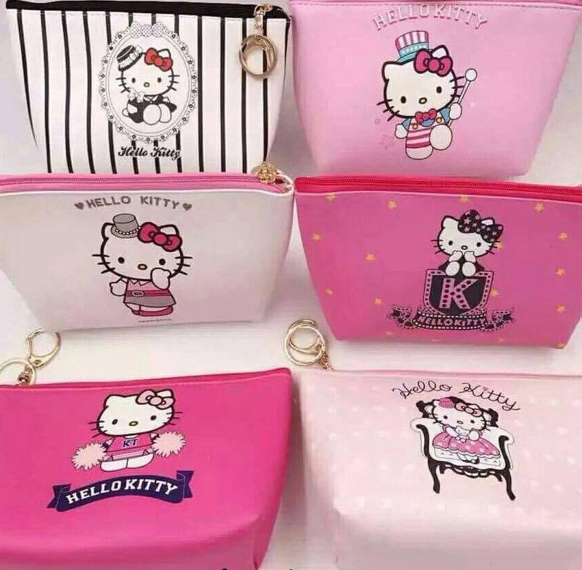 hello kitty makeup pouch  21x15cm size