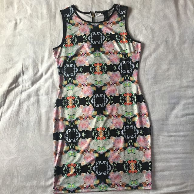 H&M Spandex Dress With Holographic Print