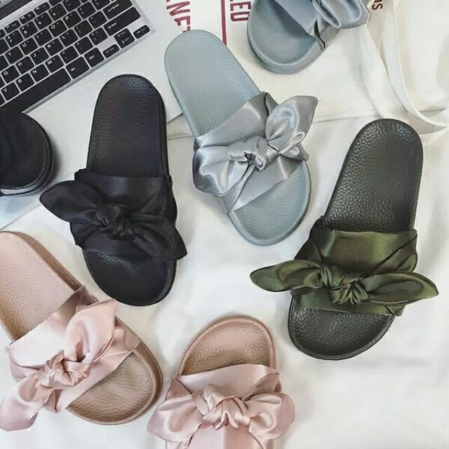 new style d5664 f5757 Inspired Puma Fenty X Rihanna Bow Slides on Carousell