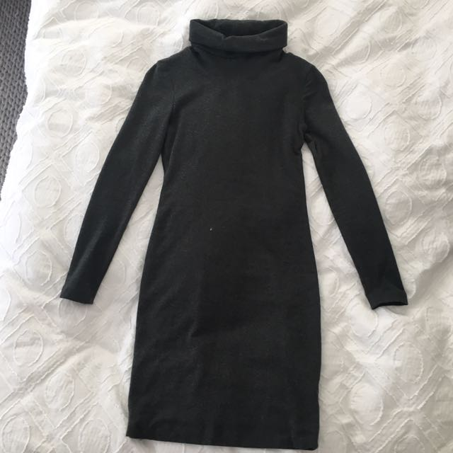 Kookai Long Sleeve Turtleneck Dress SZ 1
