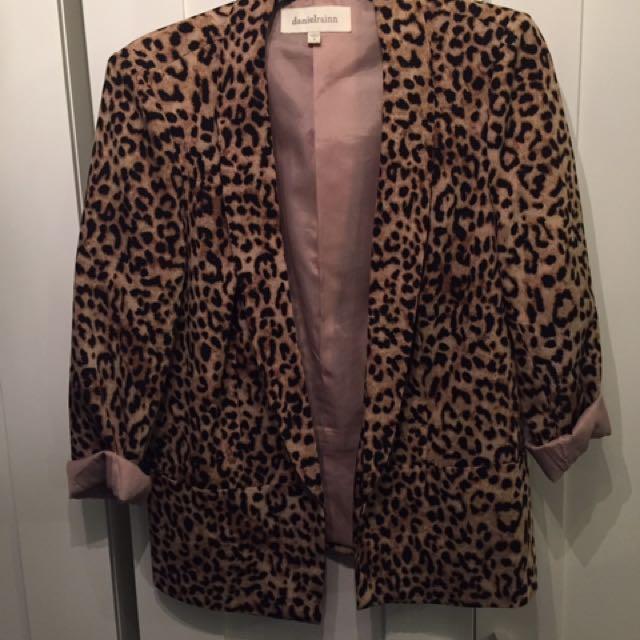 Leopard Print Women's Blazer