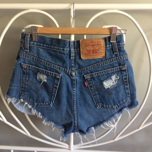 Levi Distressed Denim Shorts