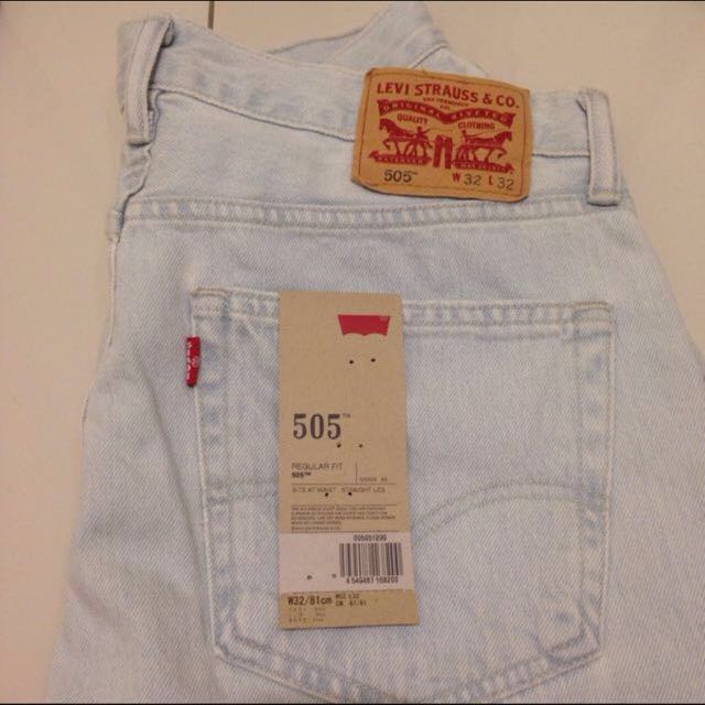 日版levi's牛仔褲.仿舊純色505