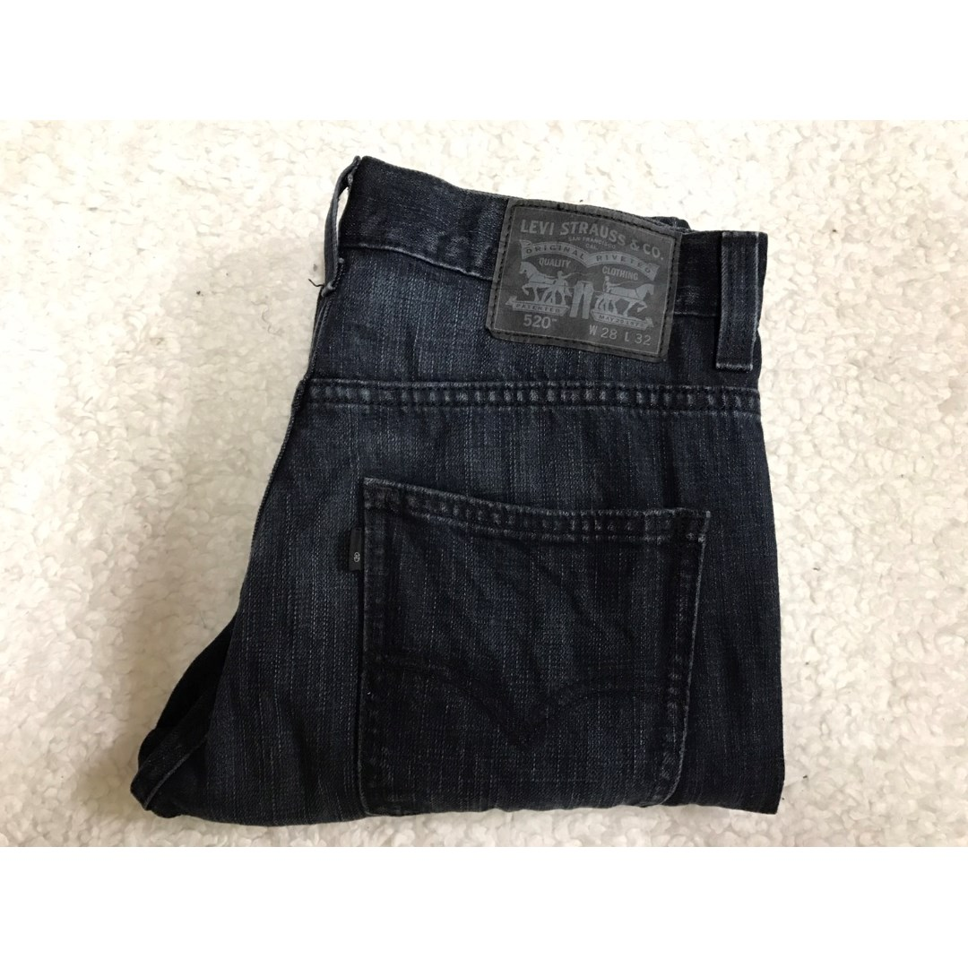 LEVI'S LEVIS 08520-0039 W28 L32 深藍窄版修身牛仔褲 501 502 505 506 522