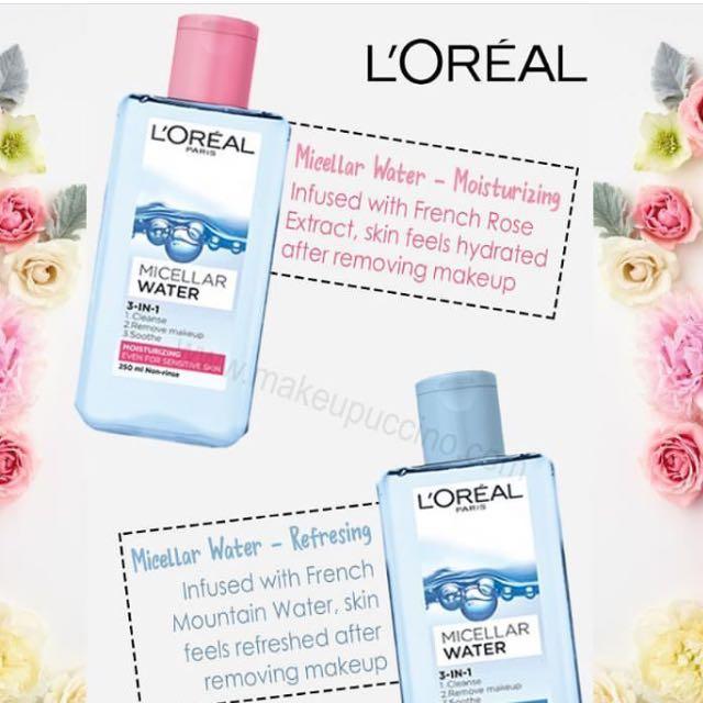 Loreal Micellar Water Pink dan Blue