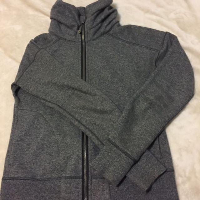 Lululemon gray zip up hooded jacket