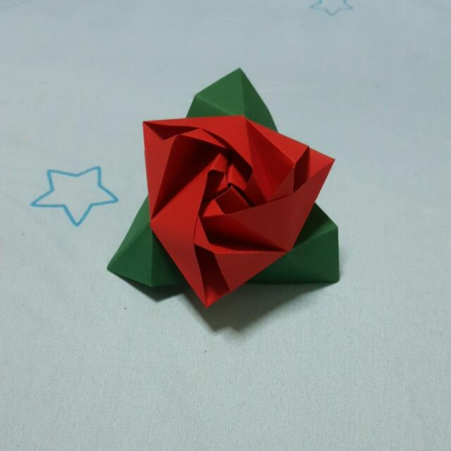 Origami Magic Rose Cube Design Craft Art Prints On Carousell