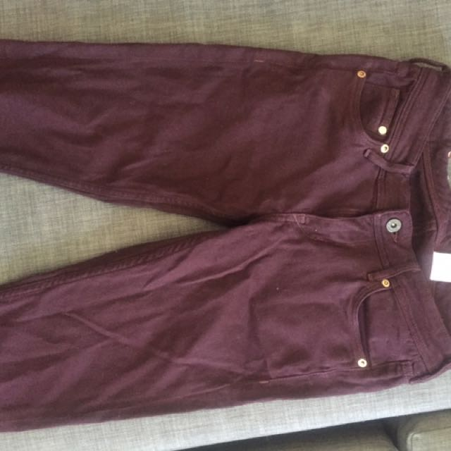 Maroon Colored Jeans H&M