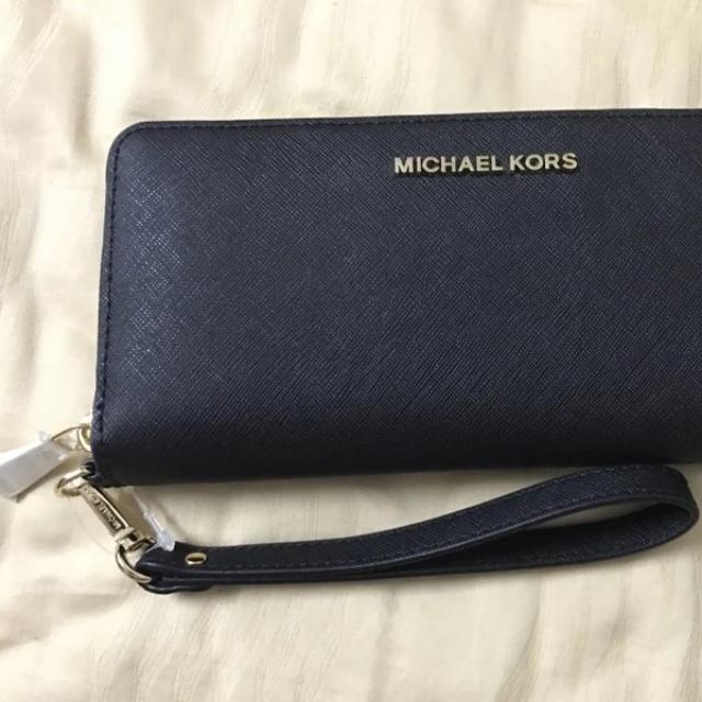 449b41880f8d Michael Kors (Mk) Jet Set Travel (Black) Wallet, Women's Fashion ...