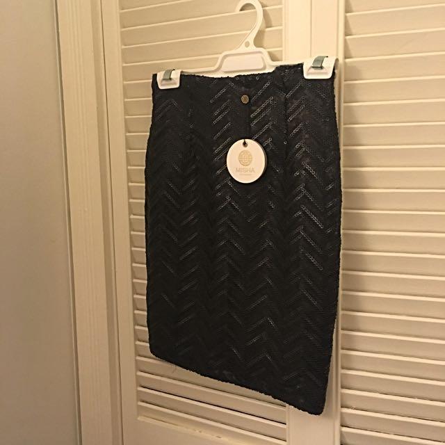 Misha Sequins Mini Skirt