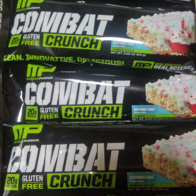 Muscle Pharm Combat Crunch Protein Bar Food Drinks Packaged