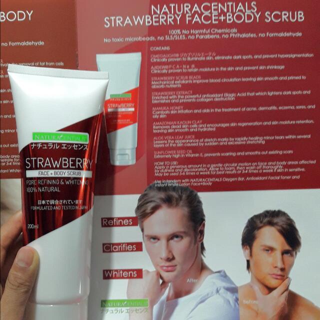 Natura Centials Strawberry Face+Body Scrub