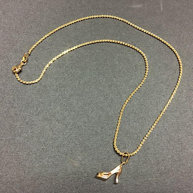 Necklace w/ High Heels Pendant