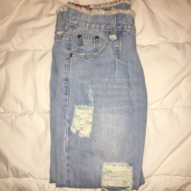 No Label White-Washed Jeans