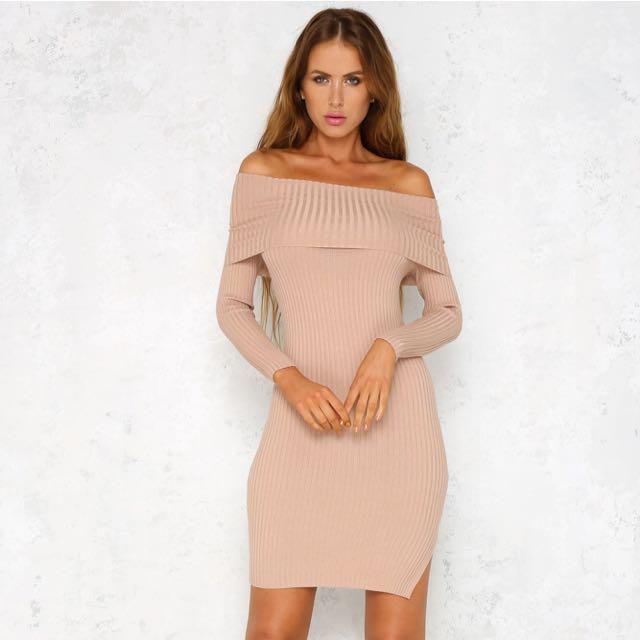 Nude Sweater Dress
