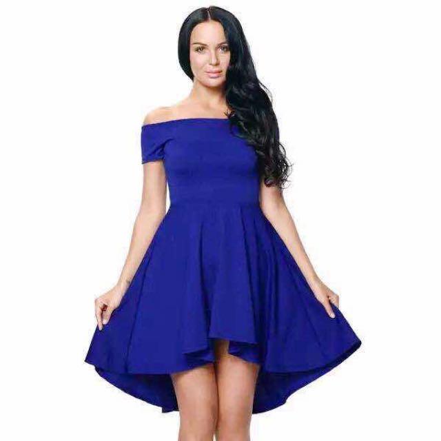 Off Shoulder Long Back Dress