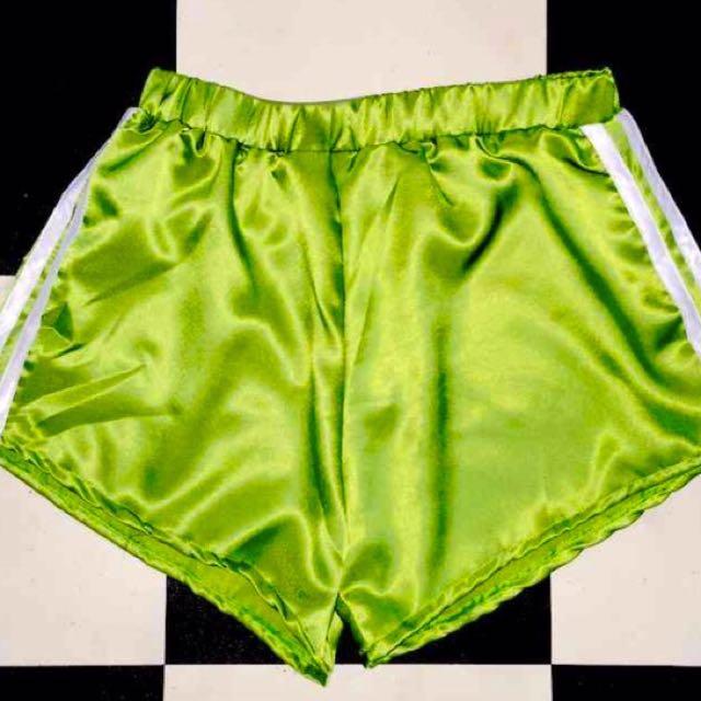 Omighty Silk Kitten Shorts In Green