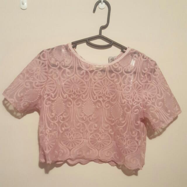One Way Pink Crop Size 12