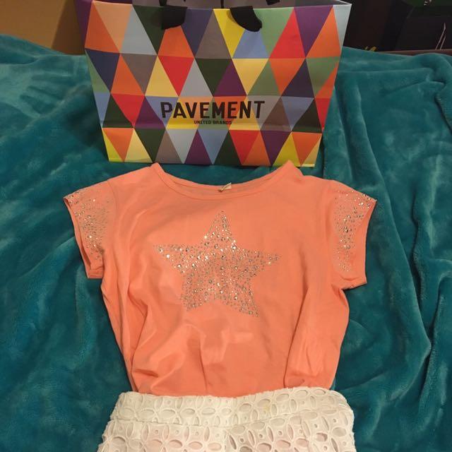 Pavement Bejewelled Star Pink Shirt