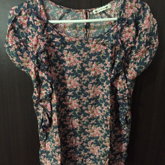 PD & Co floral print blouse