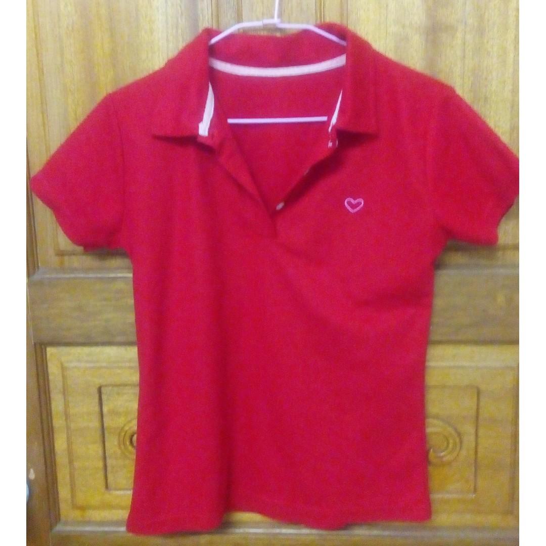 紅polo衫 T-shirt
