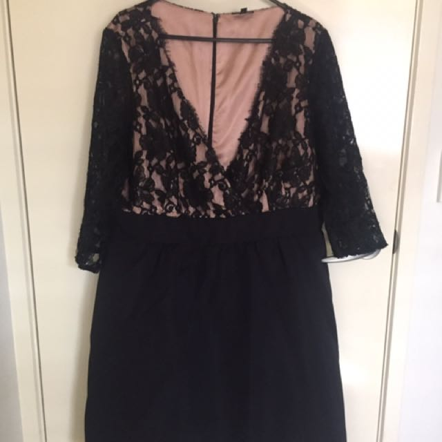 Pre Loved City Chic Plus Size Black Lace Dress. Size - Large
