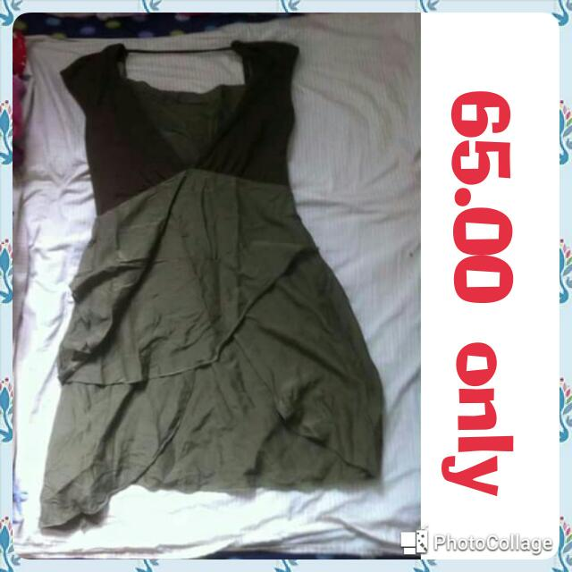 pre loved moss green dress