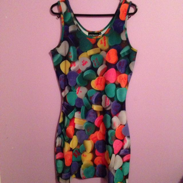 Pulp Kitchen Candy Hearts Bodycon Dress